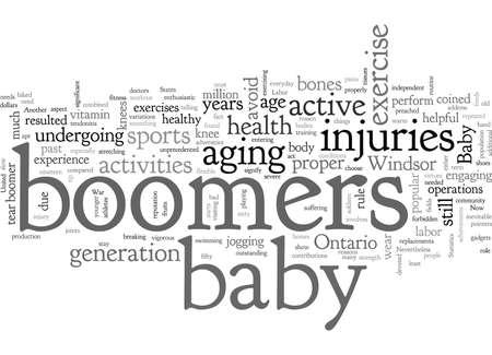 baby boomers injuries at windsor ontario Vetores