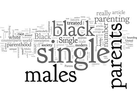 articles on single parents and black males Illustration