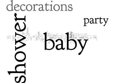 Babypartydekorationen