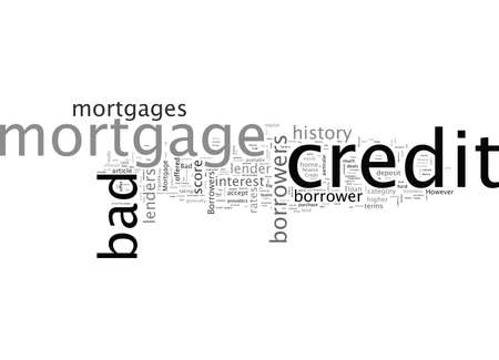 Bad Credit Mortgage Sometimes Bad Credit History Can Be Rewarded Imagens - 132214949