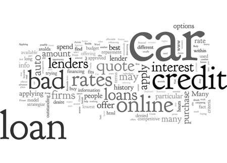Bad Credit Car Loans A Primer Ilustrace