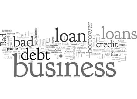Augment Your Credit Score Through Bad Debt Business Loans Stock Illustratie