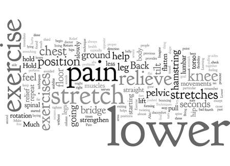 Back Exercise Lower Pain Relief Techniques Illustration