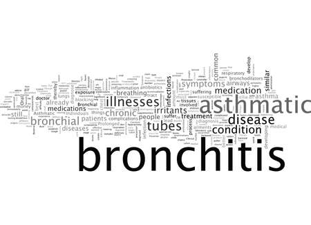 asthmatic bronchitis Vectores