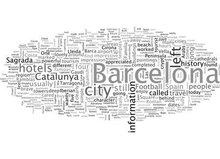 Barcelona Spain So Much Fun In One Day  イラスト・ベクター素材