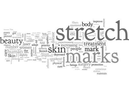 Beauty consciousness and Stretch Marks Ilustrace