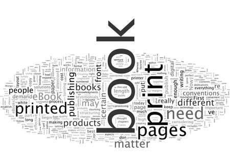 Lees dit eerst voordat u uw e-boek in gedrukte vorm omzet Vector Illustratie