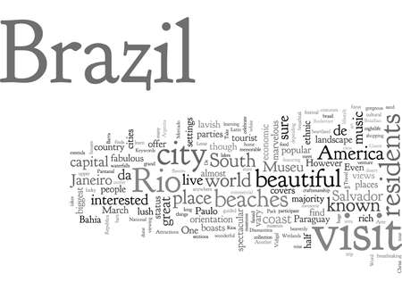 Attractions In Brazil Stock Illustratie