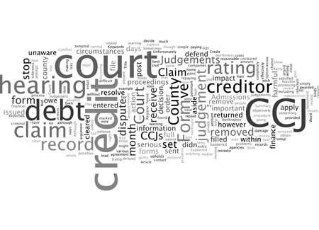 Bad Credit County Court Judgements Explained Vektoros illusztráció