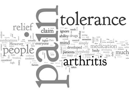 Arthritis and pain tolerance