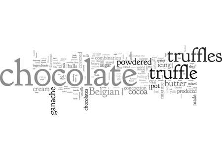 belgian chocolate truffle Illustration