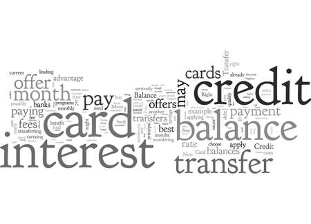 Balance Transfer Credit Cards Are They Right For You