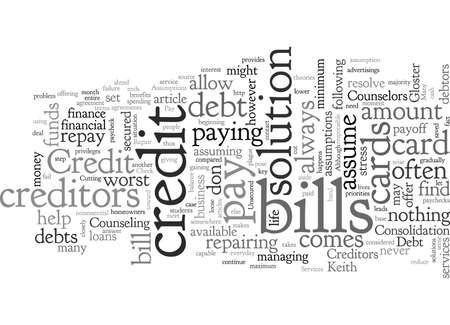 Annahmen bei der Kreditreparatur Vektorgrafik