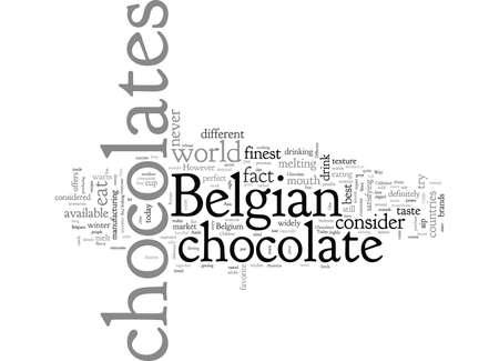 belgian chocolate cup Ilustrace