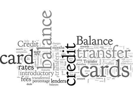 Balance Transfers Credit Card Primer Ilustrace