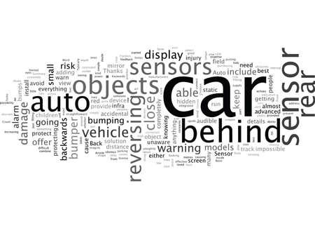 Back Up Auto Sensor Vectores