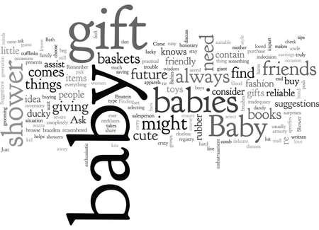 baby shower gift idea Vectores