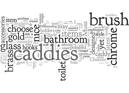 Bathroom Accessories and Toilet Brush Caddies Illustration