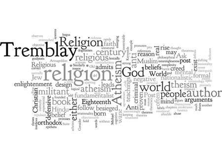 Ateismo in un mondo postreligioso Vettoriali
