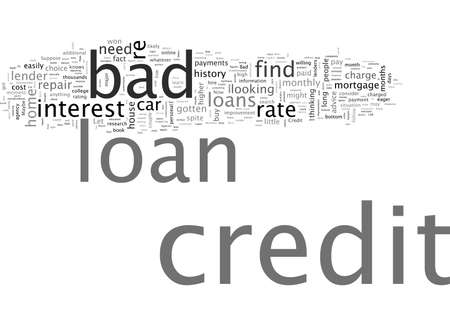 Bad Credit Loan Let s Cut Through the Hype Illustration