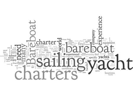 Bareboat Yacht Charters Save Money With A Bareboat Charter  イラスト・ベクター素材