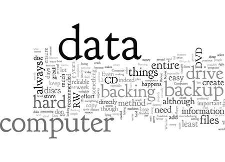 Backup Data Properly