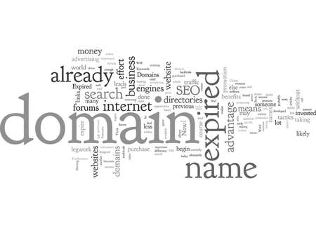 Benefit of Expired Domains Vectores