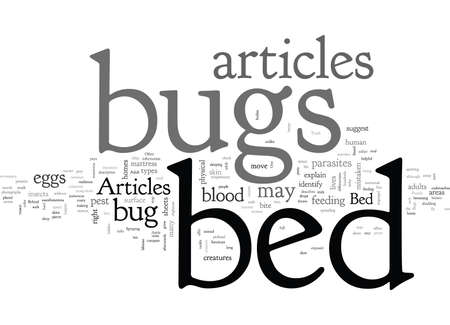 articles on bed bugs Illustration