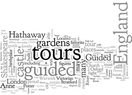 BOff the Beaten Path on Guided Tours of England Illustration