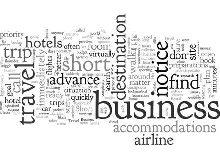 Business Travel on Short Notice
