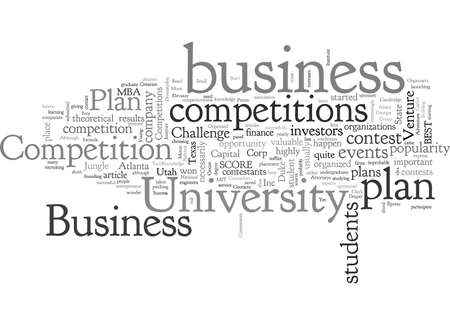 Business Plan Competitions Stock Illustratie