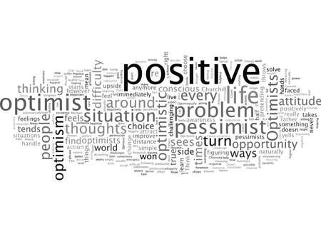 Né pour être optimiste Vecteurs