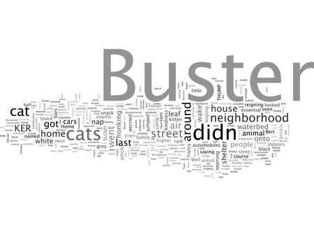 Buster the Beloved Pussycat Vektoros illusztráció