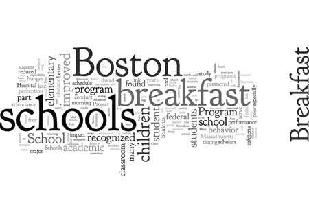 Breakfast Pays Big Dividends in Boston Schools Stock Illustratie
