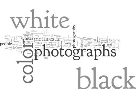 BWP color or black and white Иллюстрация