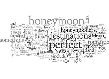 best honeymoon destinations Иллюстрация