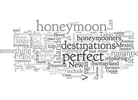 best honeymoon destinations Illustration