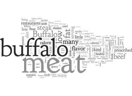 Buffalo Meat A Cut Above The Rest Imagens - 132215310