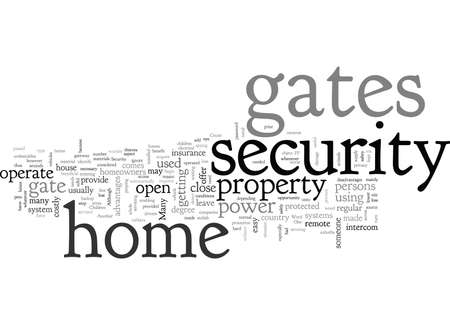 Can Home Security Gates be Useful Stock Illustratie