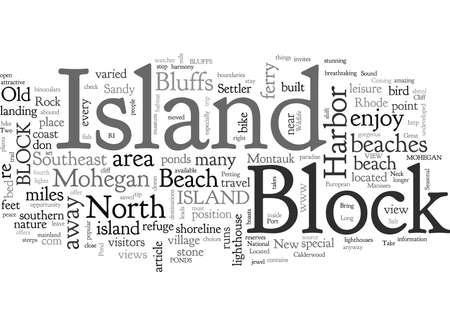 Gedenkwaardige vakanties op Block Island zijn hiervan gemaakt Vector Illustratie