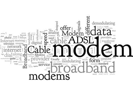 Broadband Modem How Important Is It To You Ilustração
