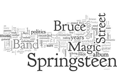 Bruce Springsteen Magic Illustration