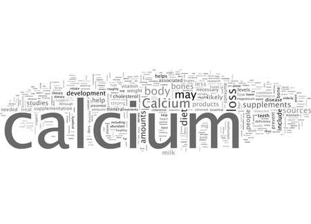 Calcium hilft den Herznervenmuskeln und anderen Körpersystemen, richtig zu funktionieren Vektorgrafik