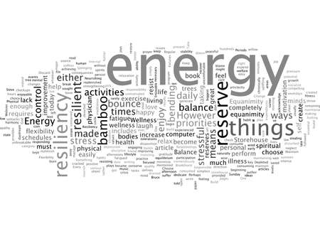 Build a Storehouse of Energy and Resiliency Vecteurs