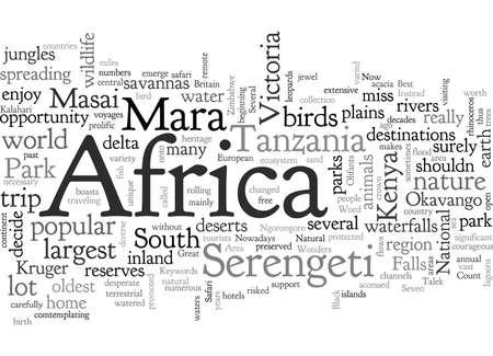 Die besten Orte für die afrikanische Safari Vektorgrafik