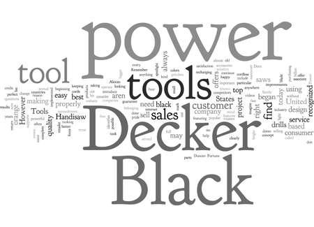 Black  Decker Power Tools Ilustração
