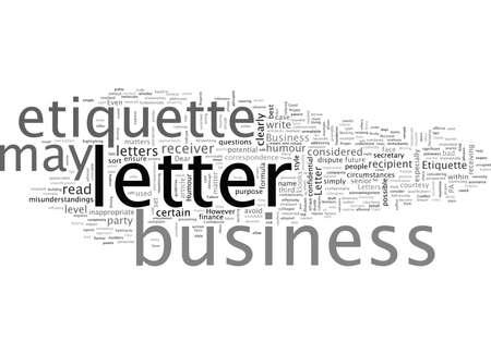 Business Letter Etiquette