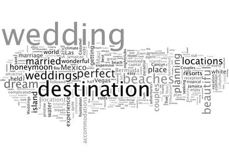 Best Places to Have Weddings Illustration