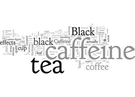 Black Tea Caffeine Ilustração
