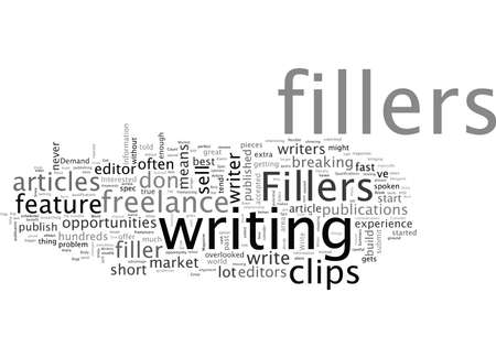 Break In With Fillers The Best Market For New Writers Иллюстрация